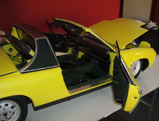 One fourth scale Porsche 914