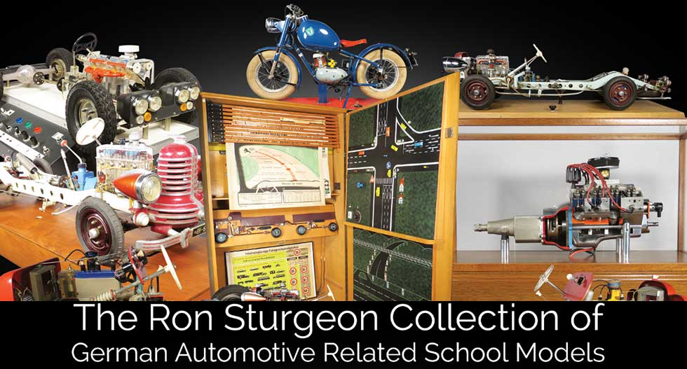 auction of ron sturgeon collection of german automotive related school models